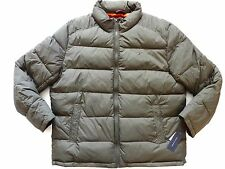 New Tommy Hilfiger Nylon Olive Green Down Alternative Puffer Jacket sz XL