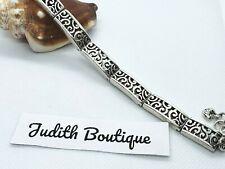 BRIGHTON  Deco Lace Silver Panel Bracelet