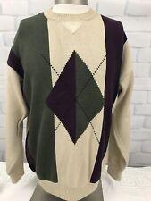 Vtg Woods & Gray Men's Crewneck Coogi Style Cotton Sweater Sz Large L