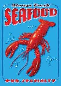 Seafood metal wall sign (41)