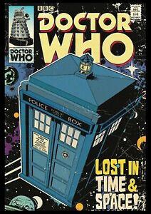 Doctor Who Retro COMIC COVER Matt Print Wall Poster