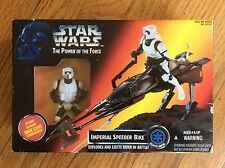 NEW 1995 KENNER STAR WARS THE POWER OF THE FORCE IMPERIAL SPEEDER BIKE