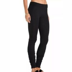 INTIMATELY FREE PEOPLE Women's Soft Knit Sweater Ribbed Leggings Black Large L