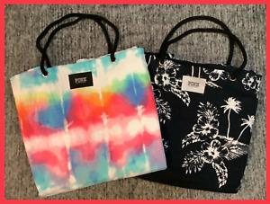 Victoria's Secret Pink Tie Dye Ombre Floral Packable Beach Towel Tote Bag NIP