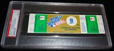 1985 WORLD SERIES GAME 7 FULL TICKET KANSAS CITY ROYALS 1ST WS TITLE CLINCH PSA