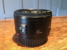 50 mm Canon EF F/1.8 - CON LENTE II Cappuccio-ottime condizioni