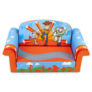 Marshmallow Furniture 2-in-1 Flip Open Couch Sofa Toddler Furniture, Toy Story