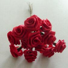Romantisch 2 X 12 Diorröschen Satinröschen Rosen Hochzeit Bordeaux Kopfschmuck Bastel- & Künstlerbedarf Floristik-zubehör