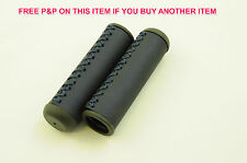 "PAIR OF DARK BLUE ""HAND STITCH"" LOOK 90mm BIKE CYCLE BICYCLE HANDLEBAR GRIPS"