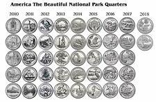 2010 - 2018 ATB NATIONAL PARK 42 COIN QUARTER SET - Philadelphia Mint