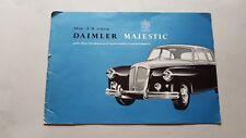 Daimler Majestic 3.8 auto 1960 depliant originale inglese brochure