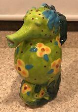 Blue Sky Ceramic Tropical Seahorse Teapot