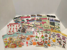 29pc Lot of Christmas Halloween and Thanksgiving Scrapbooking Stickers NEW