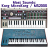 Most Sounds: Korg MicroKorg + MS2000 / MS2000R