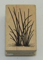 Tall Grass rubber stamp H9811 WM Lawn Scene