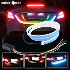 "60"" RGB LED Car Rear Trunk Strip Light Tailgate Brake Drive Signal Flow Lamp US"