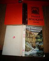 l'Epopée de l'Eau Lourde Cpt Knut Haukelid / Pages Héroiques Paul Dadin / Guerre