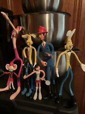 70's Vintage Bendable Toy Lot Of 7