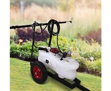 Trailer Weed Chemical Sprayer 60L Tank ssTube Spray Boom &Gun Tow ATV Quad Mower