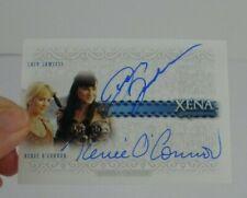 Xena Warrior Princess Autograph card DA1 Lucy Lawless Renee O'Connor dual RARE