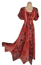 Georgette Tall  Boho Festival Handkerchief Hem Tie Dye Hippie Dress 12 14 16 18
