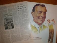 Article print Sir Henry Thomas Cotton UK Golf 1950