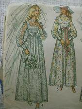 Vintage Simplicity 9218 WEDDING GOWN DRESS Sewing Pattern Women Sz 12