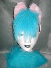 Firefly My Little Pony Horse Foal Ears And Tail Set Turquoise & Pink Fancy Dress