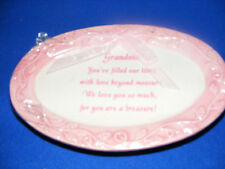 Pink Porcelain Decorative Grandma Plate With Stand-New in Package
