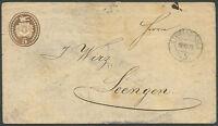 SWITZERLAND TO GERMANY Postal Stationery 1875 VF
