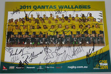 "2011 AUSTRALIA Wallabies Hand Signed x 27 Team Poster 11""x14"""