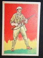 American First World War Infantry  Doughboy   Historic Uniform Card   VGC