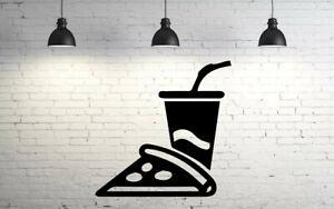 Pizza Food Drink Restaurant Menu Holiday Wall Sticker Vinyl Decor NN2489