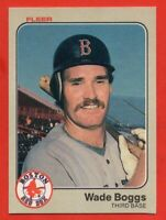 1983 Fleer #179 Wade Boggs EX/EX+ WRINKLE Rookie RC Boston Red Sox FREE S/H