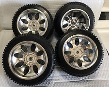 1/5 Scale RC Tire Set Square Drive For Fg Smartech Nutech Duratrax Carson (Chrm)