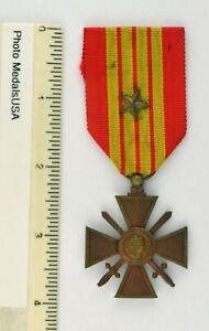 VINTAGE WW II French Croix de Guerre Medal War Cross 1939 with Bronze Star