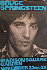 "Bruce Springsteen At Madison Square Garden Orig. Poster 47"" X 32"" 1980'S"