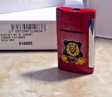 S.T. Dupont MiniJet Torch Lighter, WILD RED  W/ CHROME , 10082 New free ship