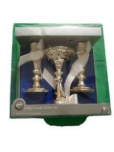 Wilton Unity Candle Holder Set, Silver-Plated.