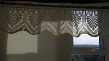 Lena Vintage in Pizzo CAFE CORTINA PANNA COTONE Scalloped Lace Window Valance briseb