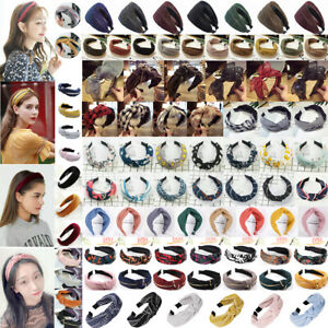 Women's Hairband Wide Stripes Bow Knot Head Band Hair Twist Hoop Accessories Lot