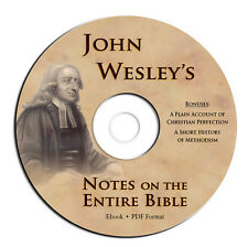 John Wesley's Notes on the Entire Bible-Scripture Commentary Study-CD Ebook PDF