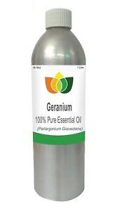 Geranium Essential Oil  Perlargonium Graveolens 1 Litre - Aromatherapy
