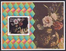 Aitutaki Block 89 (819) **, Pfingstrosen / Peonies (12 ME)