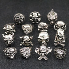 Lot 10pcs Mixed Style Skull Rings Free Shipping Wholesale Halloween ring