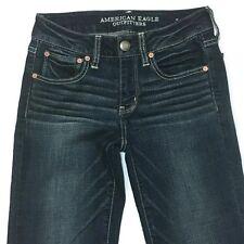 American Eagle AEO Jeans 2 Straight Super Stretch Denim 27W 32L Long Women