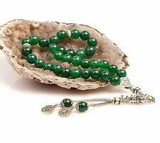 REAL Agate Stone Islamic Prayer 33 beads Tasbih, Misbaha, Rosary, Tasbeeh (8mm)