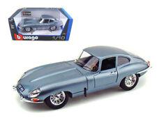 1961 Jaguar E Type Coupe Blue 1/18 Diecast Model Car by Bburago