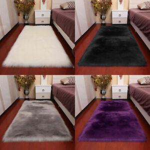 Super Soft Large Sheepskin Rugs Long Fluffy Faux Wool Fur Rug Carpet Floor Mat
