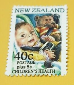 NEW ZEALAND. 1996. TEDDY BEAR ERROR. 40c. REPRO.